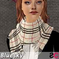 scarfs burberry cream