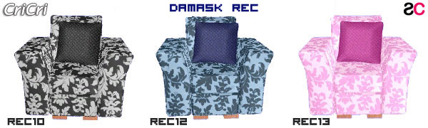 Recolor Damask color per divani e poltrone
