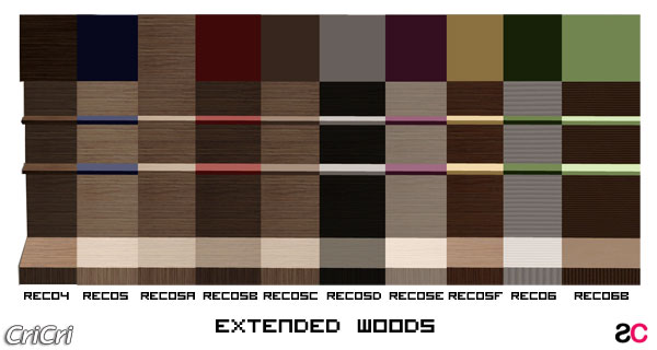 Set recolor extended wood per ripiani