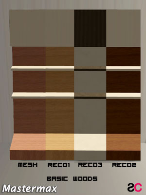 Set recolor basic wood per ripiani
